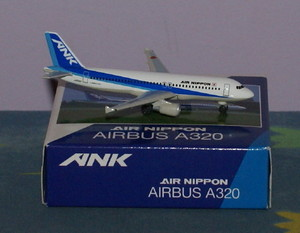 ANK Air Nippon A320-200, Herpa 1:500 Scale Diecast Airliners Item Number NH50007
