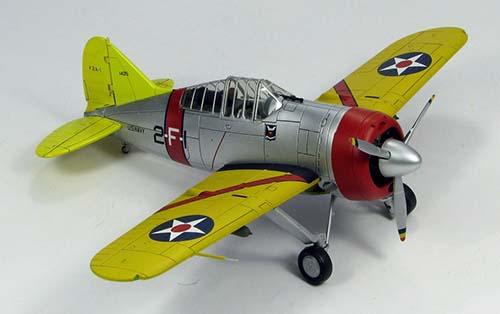 Hobby Master Diecast Airplanes - F2A Buffalo (1:48) #HA7006
