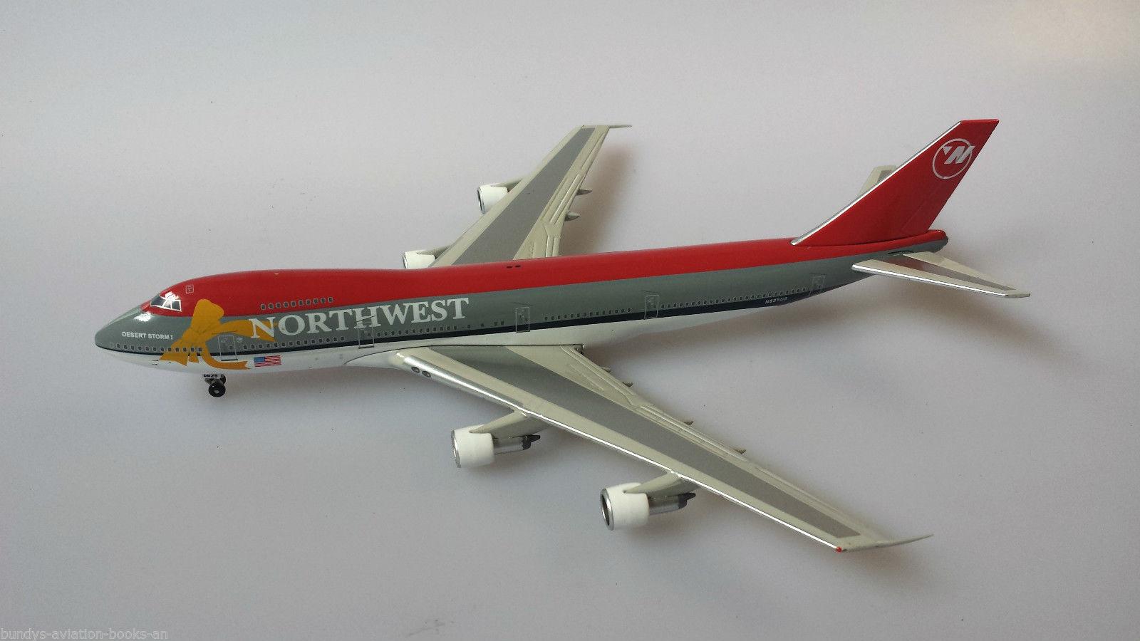 JFox Model Airliners - Northwest B747-251B N625US
