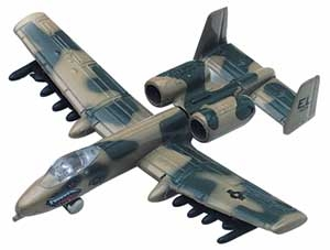 "A-10 Thunderbolt (Approx. 3.5""), Motormax Diecast Item Number DS-A10"