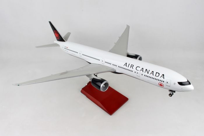 Air Canada 777-300 With Wood Stand & Gear (1:100) by Skymarks Supreme Desktop Aircraft Models item number: SKR9405