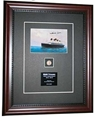 Titanic Postcard signed by Millvina Dean Framed and Matted to include 1912 wheat penny and plaque, Century Concept International Item Number CC1423