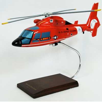US Coast Guard Aerospatiale HH-65A Dolphin Desk Display 1//38 Model MC Helicopter
