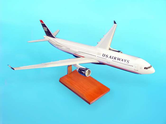A330-300 US Airways - New Colors (1:100), TMC Pacific Desktop Airplane Models Item Number KA330USATR