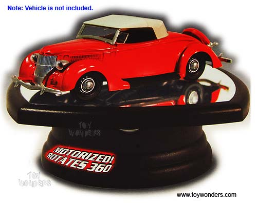 1/32 Scale Diecast Model Car Rotating Display Stand (with mirror base), lindberg Item Number HL14105