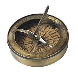 18th C. Sundial & Compass, no lid, Authentic Models Item Number CO012A