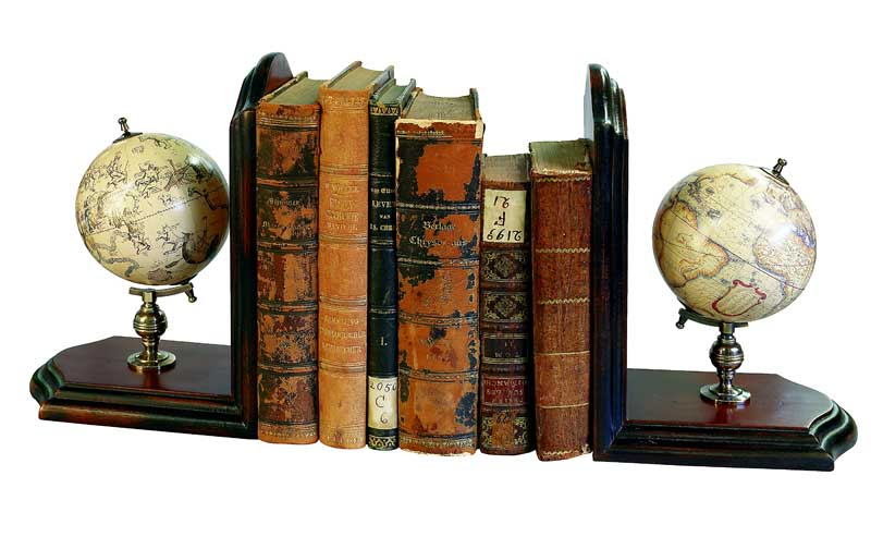Globe Bookends, Authentic Models Item Number GL009F
