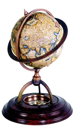 Terrestrial Globe With Compass, Authentic Models Item Number GL019
