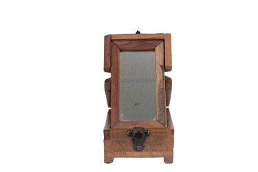 Wooden Barber Box Small, Authentic Models Item Number HA013