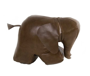 Elephant Doorstop Leather, Authentic Models Item Number KD003