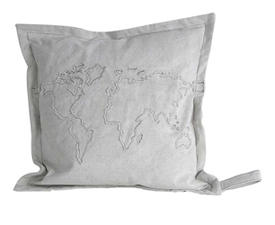 Globe Map Cushion, Authentic Models Item Number KD005