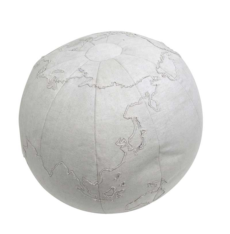 Globe Pouf, Authentic Models Item Number KD008
