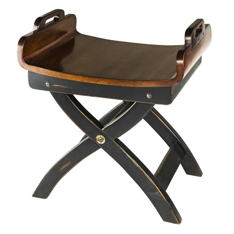 Fireside Stool, Authentic Models Item Number MF115