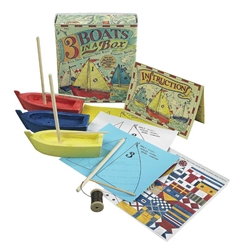 Three Boats In A Box Kit, Authentic Models Item Number MS015A
