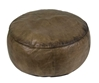 Ottoman Round Leather 75 CM, Authentic Models Item Number ST001
