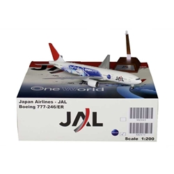 JAL Japan Airlines Boeing B777-200(ER) OneWorld JA704J (1:200) by JC Wings Diecast Airliners Item: JC2JAL673
