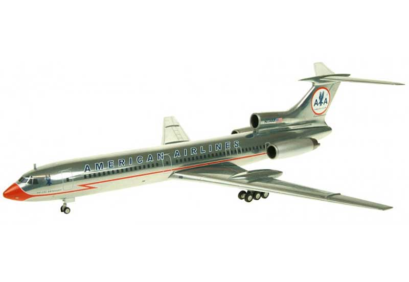 "American TU-154M N154AA ""Lighting Bolt Livery"" (1:200) - Special Clearance Pricing, JC Wings Diecast Airliners, XX2736"
