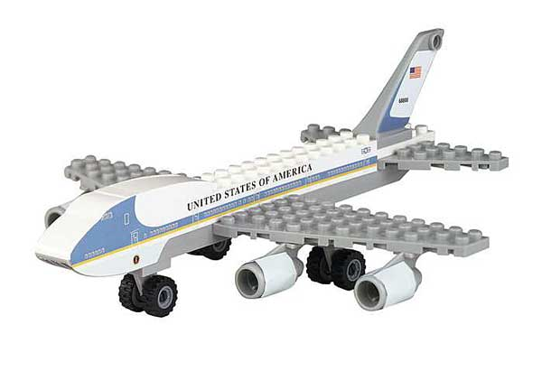 Air Force One 55 Piece Construction Toy, Best Lock Item Number BL222