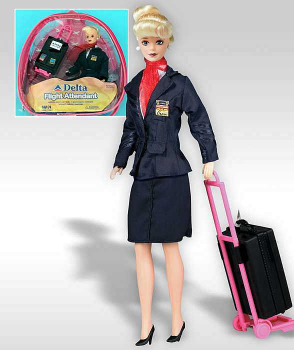 Delta Flight Attendant Doll, Daron Toys Item Number DA200