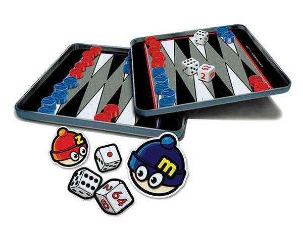 Backgammon Magnetic Travel Game, Travel Games Item Number MZ660016