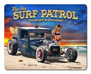 1929 Rat Rod Surf Patrol Vintage Metal Sign, 15 By 12 by Vintage Sign Company item number: LGB315
