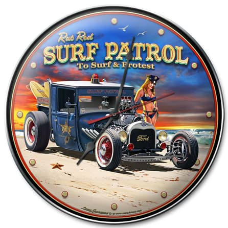 1929 Rat Rod Surf Patrol Vintage Metal Sign, 14 By 14 by Vintage Sign Company item number: LGB319