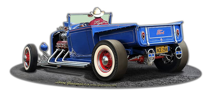 1929 Rod Pick-Up Cutout Vintage Metal Sign, 18 By 8 by Vintage Sign Company item number: LGB328