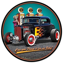 1932 Deuce Coupe Vintage Metal Sign, 14 By 14 by Vintage Sign Company item number: LGB362