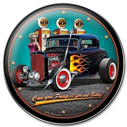 1932 Deuce Coupe Fillup Vintage Metal Sign, 14 By 14 by Vintage Sign Company item number: LGB366