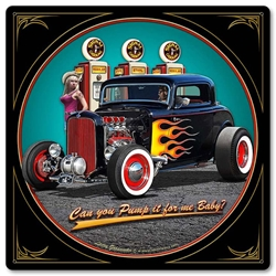 1932 Deuce Coupe Fill-Up Vintage Metal Sign, 12 By 12 by Vintage Sign Company item number: LGB415