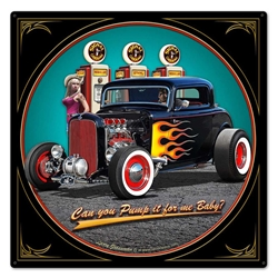 1932 Deuce Coupe Fill-Up Vintage Metal Sign, 24 By 24 by Vintage Sign Company item number: LGB416