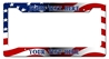 Us Flag Personalized License Frame Vintage Metal Sign, 12 By 6 by Vintage Sign Company item number: LPF017