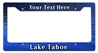 Lake Tahoe Personalized License Frame Vintage Metal Sign, 12 By 6 by Vintage Sign Company item number: LPF019