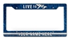 Live To Fly Personalized License Plate Frame Vintage Metal Sign, 12 By 6 by Vintage Sign Company item number: LPF021