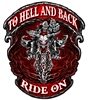 Hell And Back Ride On Vintage Metal Sign, 14 By 16 by Vintage Sign Company item number: WKS010