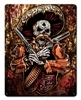 Mexican Gun Fighter Vintage Metal Sign, 12 By 15 by Vintage Sign Company item number: WKS012