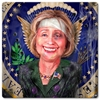 Hillary Clinton Caricature Beaten But Victorious Vintage Metal Sign, 12 By 12 by Vintage Sign Company item number: JV022
