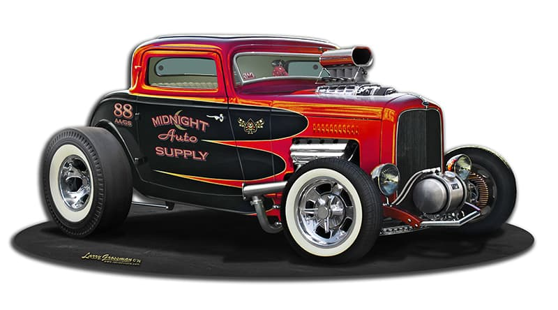 1932 Blown Street  Rod Vintage Metal Sign, 17 By 8 by Vintage Sign Company item number: LG779