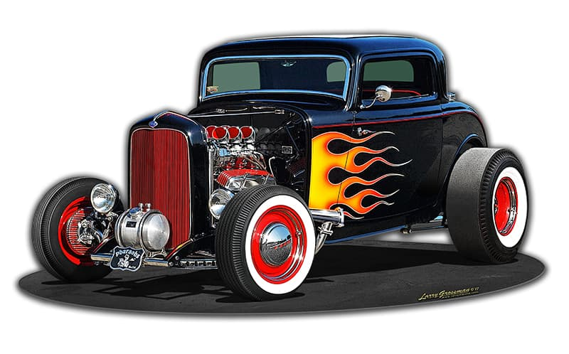 1932 Deuce Coupe Vintage Metal Sign, 17 By 9 by Vintage Sign Company item number: LG919