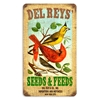 Del Rey's Seeds Vintage Metal Sign, 8 By 14