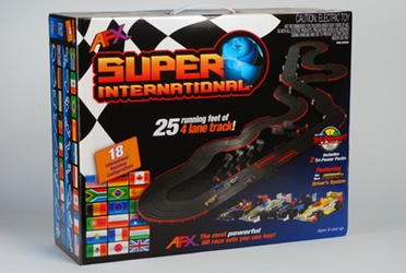 Super International Mg+ Set, AFX Slot Car Racing Item Number AFX21018
