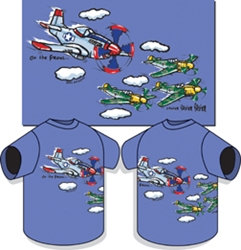 P-51 On The Prowl Kids T-shirt, Born Aviation Aviation Gifts Item Number KW-OP
