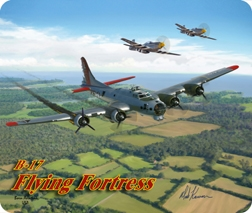 B-17 Classic Flight Mouse Pad, Born Aviation Aviation Gifts Item Number MPK-B17