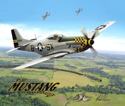 P-51 Classic Flight Mouse Pad, Born Aviation Aviation Gifts Item Number MPK-P51