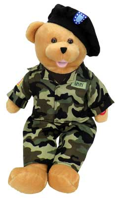 "Army Military Hero Bear ""The Army Goes Rolling Along"", Born Aviation Aviation Gifts Item Number SA-ARH"