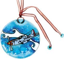 P-51 Suncatcher/Ornament, Born Aviation Aviation Gifts Item Number SC-P51