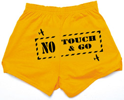 No Touch & Go Cheer Shorts, Born Aviation Aviation Gifts Item Number TG-SHORT