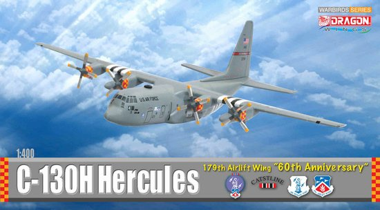 "C-130H Hercules, 179th Airlift Wing ""60th Anniversary"" (1:400), DragonWings 400 Diecast Airliners Item Number DRW56276"