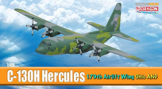 C-130H Hercules 179th Airlift Wing Ohio ANG (1:400), DragonWings 400 Diecast Airliners Item Number DRW56297