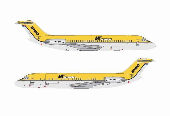 IPEC - Independent Air Freighter of Australia DC-9-30 - VH-IPC (1:400), Jet X 1:400 Diecast Airliners, Item Number JET602B